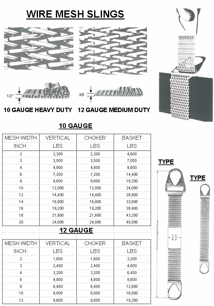 wire mesh slings manufacturer toronto cable craft ltd